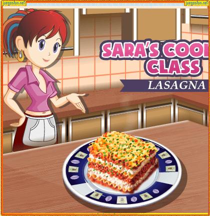 Cocina Con Sara Lasaña Juegosfun Net