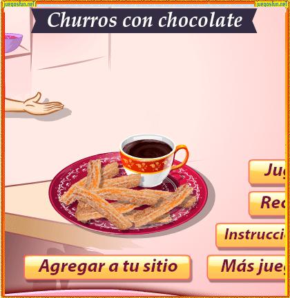 Juegos Cocina Con Sara Gratis   Cocina Con Sara Churros Con Chocolate Juegosfun Net