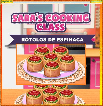 Cocina Con Sara Rotolo De Espinaca Juegosfun Net