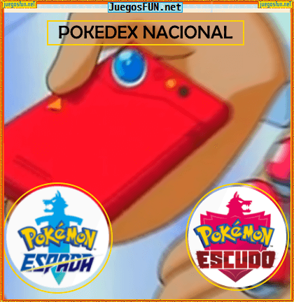 Pokedex Nacional Pokemon Escudo y Espada